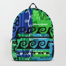 Hawaiian Pattern #1 - marine colors! Backpack