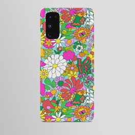 60's Groovy Garden in Blue Android Case