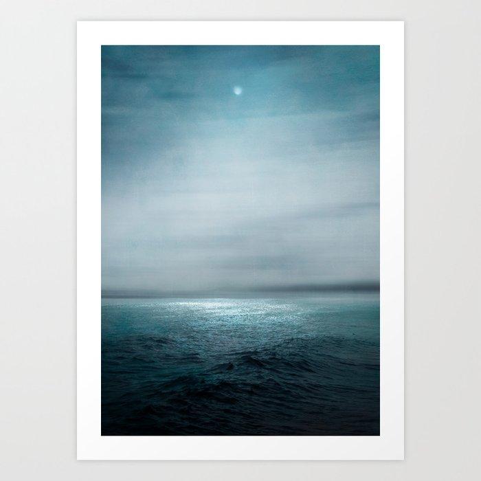 Sea Under Moonlight Art Print