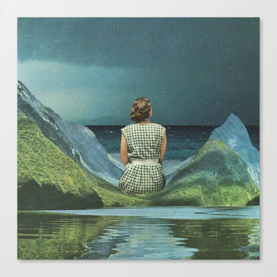 They say she's waiting on his return Canvas Print