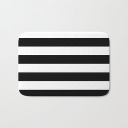 Black & White Stripes- Mix & Match with Simplicity of Life Bath Mat