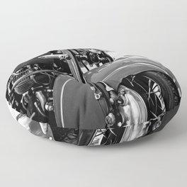 Motorcycle-B&W Floor Pillow