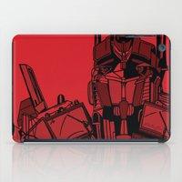 optimus prime iPad Cases featuring Transformers: Optimus Prime by Skullmuffins
