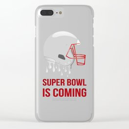 The Super Bowl Countdown Clear iPhone Case