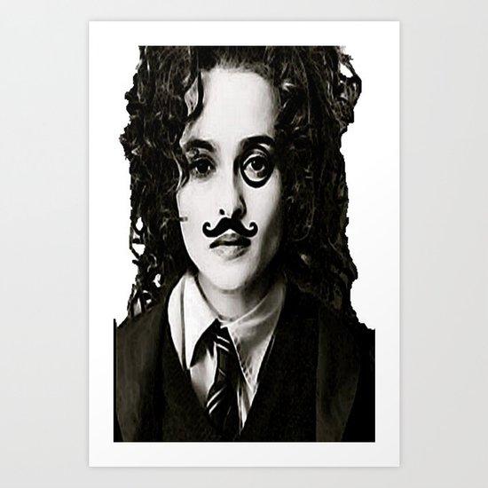 Helena Bonham... Chaplin? Art Print