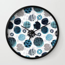 Blue Pebbles Wall Clock