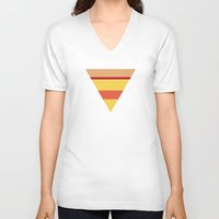 pizza V-neck T-shirts featuring Pizza by parallelish