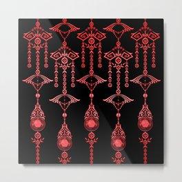 CASTELLINA JEWELS: ORNATE RED GOTH Metal Print