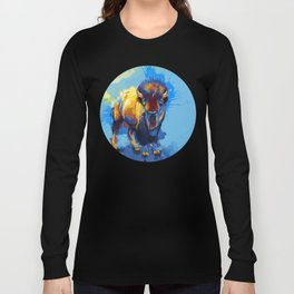 On the Plains - Bison painting Long Sleeve T-shirt