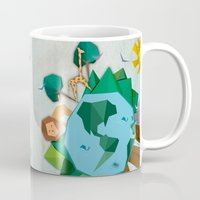 planet of the apes Mugs featuring Planet by Design SNS - Sinais Velasco