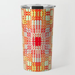 """series """"Stained glass"""" - red and yellow Travel Mug"""