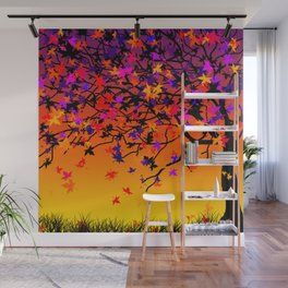 The Scent Of Halloween Autumn Tree Wall Mural