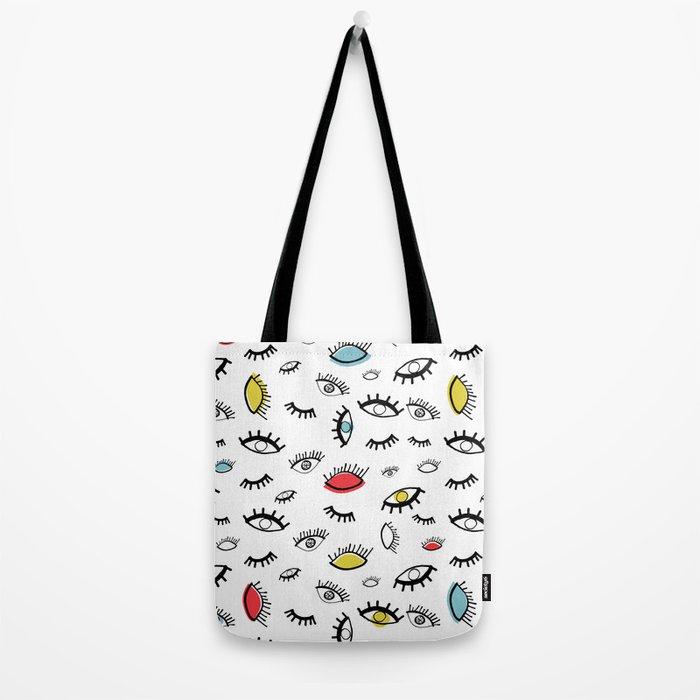 Eyeball Pattern Tote Bag
