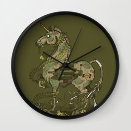 Unicorn of War Wall Clock