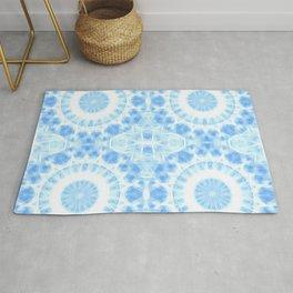 Peaceful blue mandala Rug