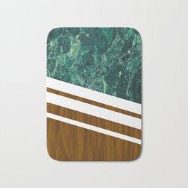 Wood of marble Bath Mat