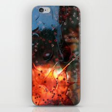 silver rain iPhone & iPod Skin