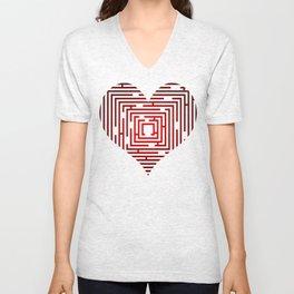 maze in the heart Unisex V-Neck
