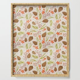 Quiet Walk In The Forest - A Soft And Lovely Pattern Serving Tray
