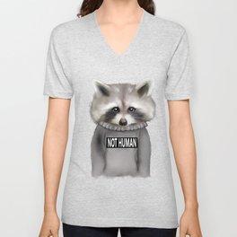 Raccoon Not human Unisex V-Neck