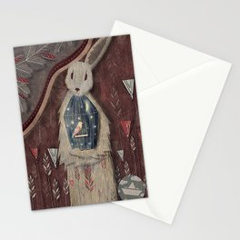 Chaising rabbit Stationery Cards