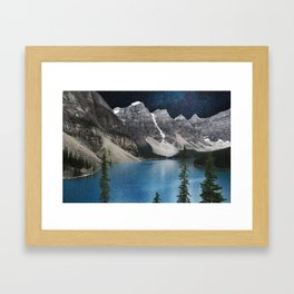 Midnight Moraine Framed Art Print