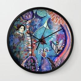 Meeting My Abundance Wall Clock