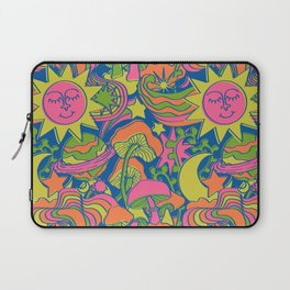 Psychedelic Daydream in Neon + Blue Laptop Sleeve