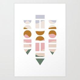 Geometric Abstract Shapes Art Print
