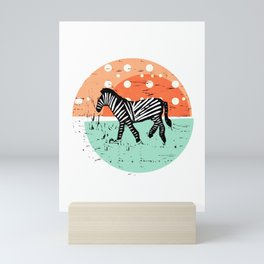 Zebras – Ethno Animals Pattern  Mini Art Print