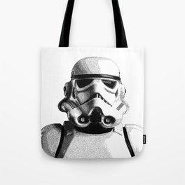 Stormtrooper Dotwork - Pointillism Fan Artwork Tote Bag