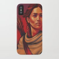 katniss iPhone & iPod Cases featuring Katniss by JenHoney