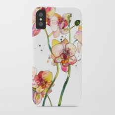 Pink Orchids Slim Case iPhone X