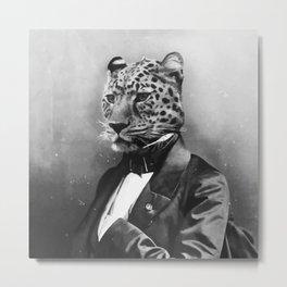 Sir Leopard Metal Print
