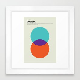 Dualism Framed Art Print