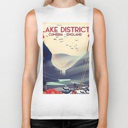 Lake district, Cumbira Travel poster. Biker Tank