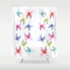 Colorful flowering butterflies. Floral photo art. Shower Curtain