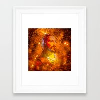 jesus Framed Art Prints featuring Jesus by Saundra Myles