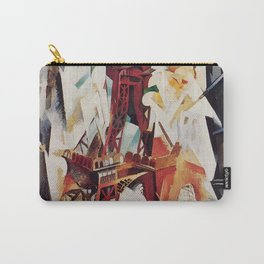 """Robert Delaunay """"Graphic Champs de Mars: The Red Tower"""" Carry-All Pouch"""