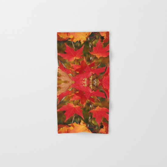 Fiery Autumn Maple Leaves 4966 Hand & Bath Towel