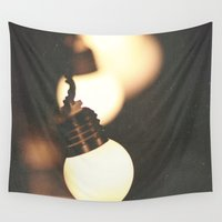 the lights Wall Tapestries featuring Lights by Whitney Retter