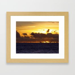 Helo playing in the sun Framed Art Print