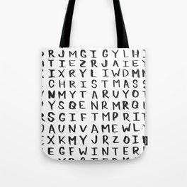 Christmas Word Search Tote Bag