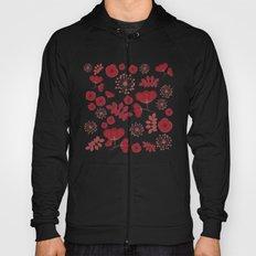 Marsala flowers pattern Hoody