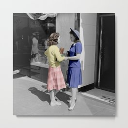 Fifties Girls Metal Print