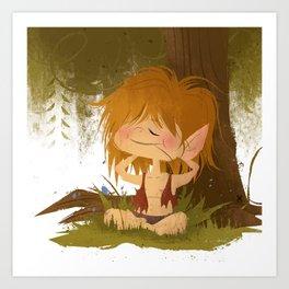 Countryside Elf Art Print