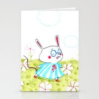 mouse Stationery Cards featuring Mouse by Maureen Poignonec