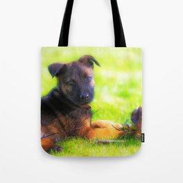 Hollandse herdershond puppy 8 weeks old Tote Bag