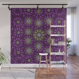 ornate heavy metal stars in decorative bloom Wall Mural