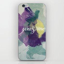 you&me iPhone Skin